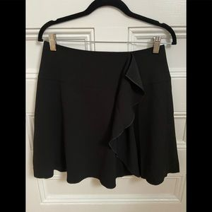 Loft Black Ruffle Skirt